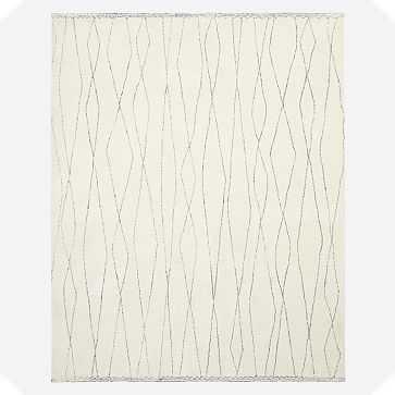 Safi Rug, 5'x8', Stone White - West Elm