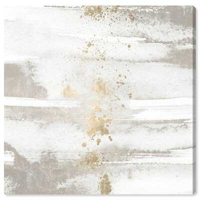 Abstract Strokes Sun and Rain Paint - Wrapped Canvas Graphic Art Print - Wayfair