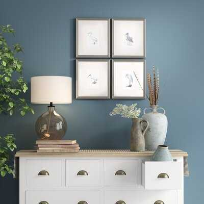 'Egrets' 4 Piece Picture Frame Graphic Art Set - Birch Lane