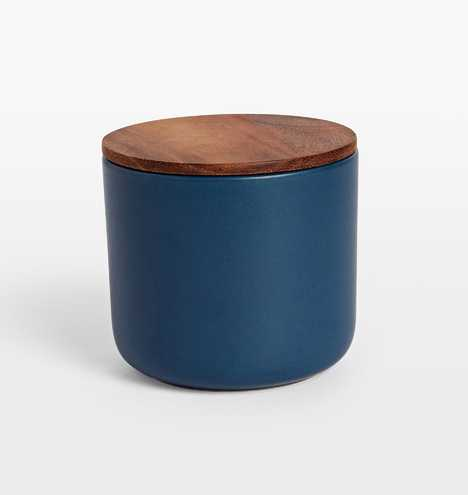 Canister with Wood lid - Rejuvenation