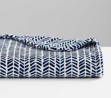 Chamois Broken Arrow Baby Blanket,Navy - Pottery Barn Kids