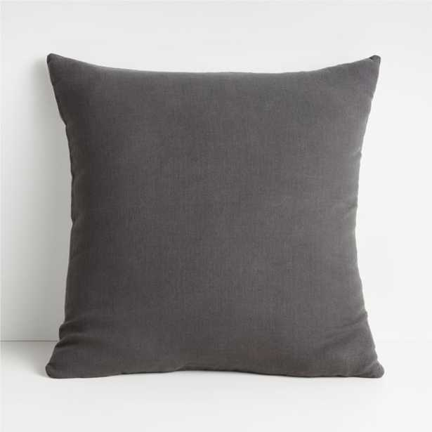 """Linen Steel 20"""" Pillow Cover - Crate and Barrel"""