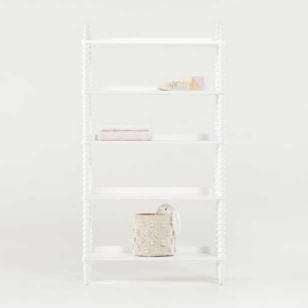 Jenny Lind White Bookcase - Crate and Barrel