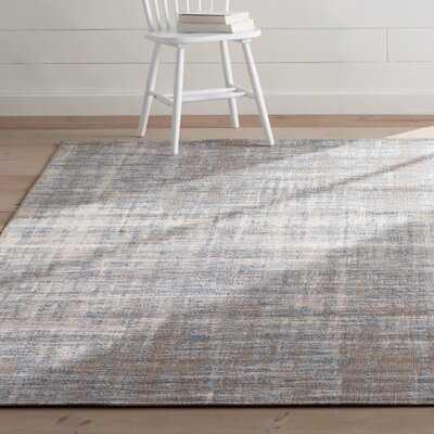 Koopman Abstract Dark Gray/Aqua Indoor/Outdoor Area Rug - Wayfair