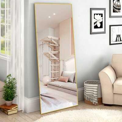 Aluminum Alloy Thin Frame Gold Full-Length Mirror 65 In. H X 22 In. W - Wayfair