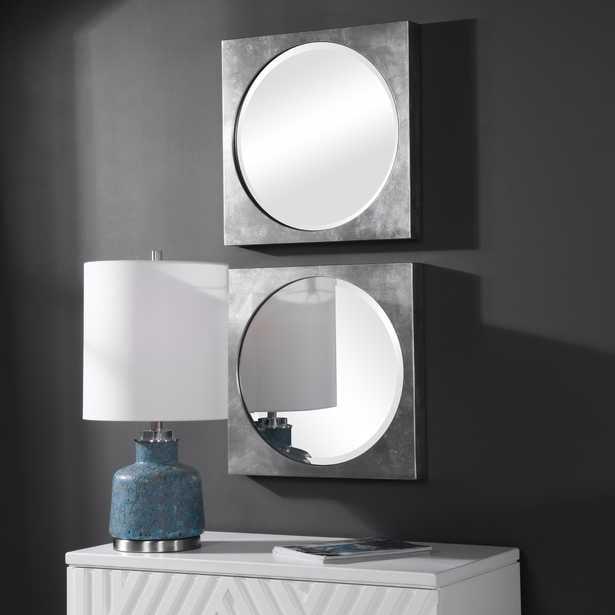 Aletris Modern Square Mirrors, S/2 - Hudsonhill Foundry