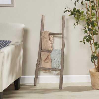 Wood White Washed 3.5 ft Blanket Ladder - Birch Lane