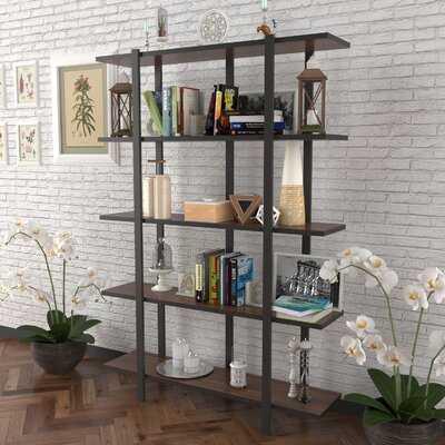 Arika 70'' H x 35'' W Metal Etagere Bookcase - Wayfair