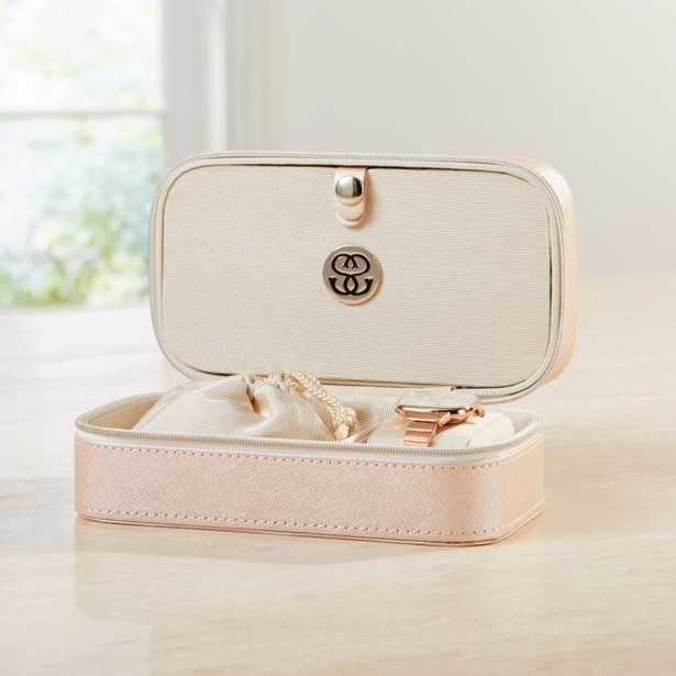 Agency Small Pale Pink Jewelry Box - Crate and Barrel