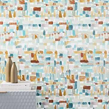 Painted Dots Wallpaper, Multicolor, Single Roll - West Elm