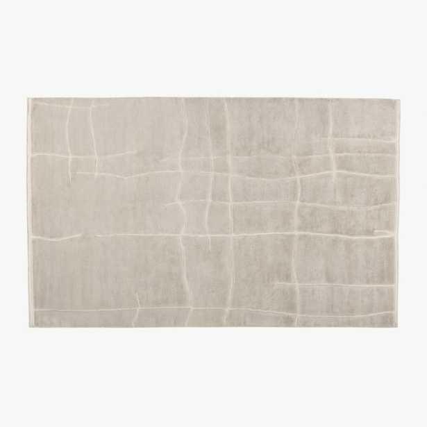 Hogan Handknotted Silver Grey Viscose Rug 8'x10' - CB2