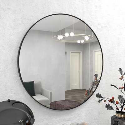 Large Round Farmhouse Wall Circular Mirror - Wayfair