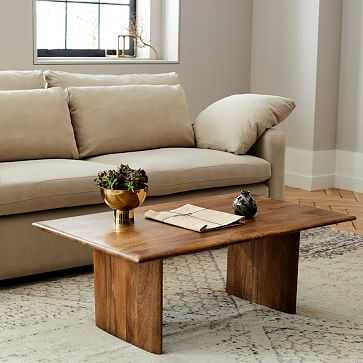 Anton Solid Wood Coffee Table, Rectangle - West Elm
