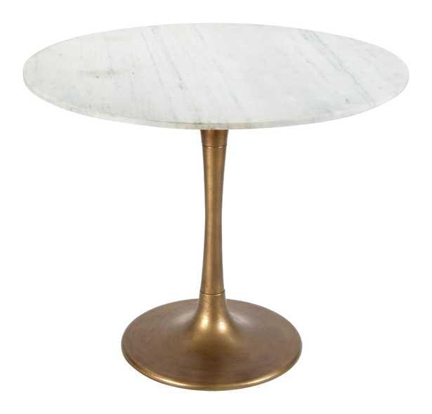 Fullerton Dining Table White & Gold - Zuri Studios