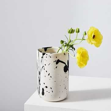 Torrent Vase, White - West Elm