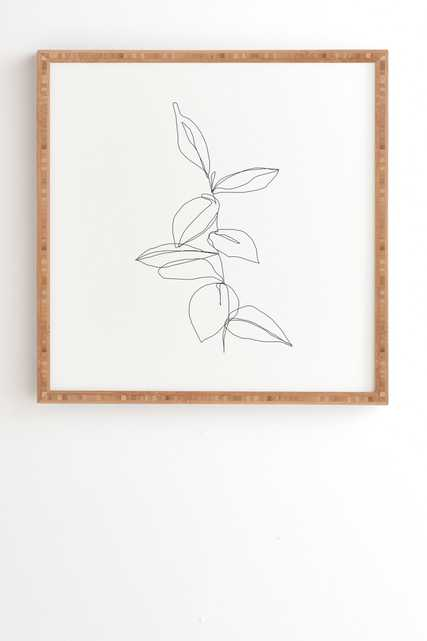 """Plant Illustration Berry by The Colour Study - Framed Wall Art Bamboo Large: 16"""" x 16"""" x 1 3/4"""" - Wander Print Co."""