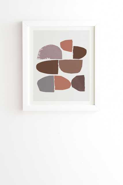 "Minimalist Collage by Iris Lehnhardt - Framed Wall Art Basic White 8"" x 9.5"" - Wander Print Co."