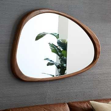 Mid Century Asymmetrical Wall Mirror, Acorn, UPS - West Elm