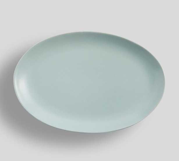 Mason Stoneware Oval Serving Platter - Blue - Pottery Barn