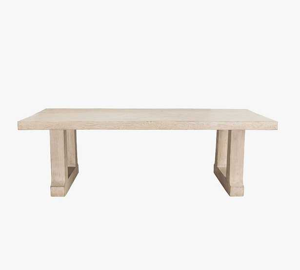 Oswald Dining Table, Natural White - Pottery Barn