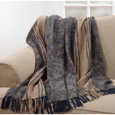 Keiko Tassel Cotton Throw - Birch Lane