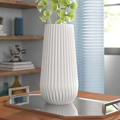 Simonton White Textured Table Vase - Wayfair