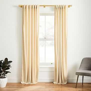 "Faux Silk Moire Curtain, Champagne, 48""x96"" - West Elm"