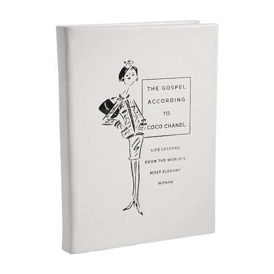 The Gospel According To Coco Chanel Book, Italian Bonded Leather, Multi - West Elm