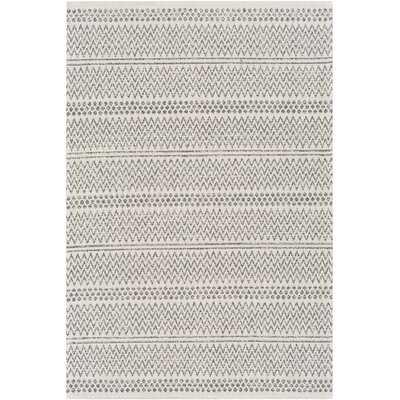 Capen Southwestern Cotton Charcoal/Ivory Area Rug - Wayfair