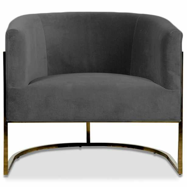 Lisbon Barrel Chair Upholstery: Dark Gray - Perigold