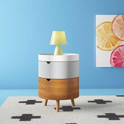 Bae Mid-Century Modern 3-Tier Wood Nightstand - Wayfair