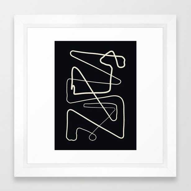 Movements Black Framed Art Print by Grace - Vector White - X-Small-12x12 - Society6
