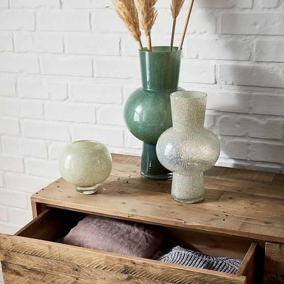 Jade Colored Glass Vases Set of 3, Small & Medium & Large - West Elm
