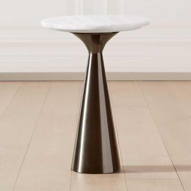 Nina Large Rose Quartz Side Table - CB2