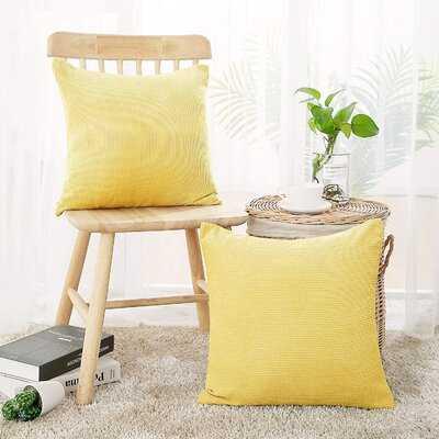 Caysee Square Velvet Pillow Cover - Wayfair