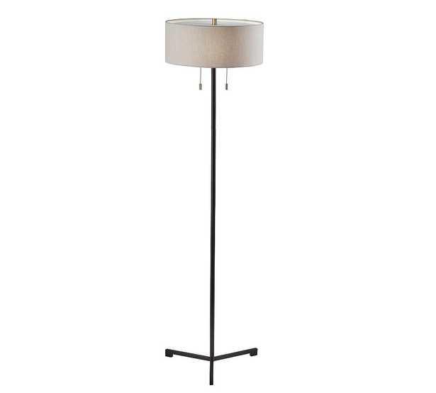 Herron Metal Floor Lamp, Black - Pottery Barn