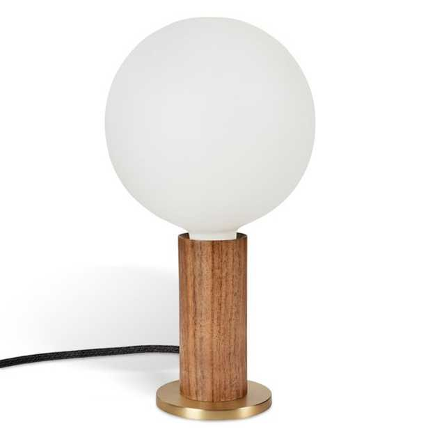 Tala Walnut Table Lamp with Sphere IV Bulb - Crate and Barrel
