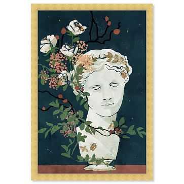 Oliver Gal Muse Delicate Floral Display Framed Art, Multi - West Elm