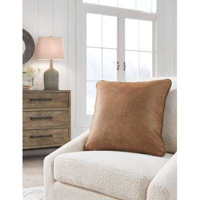 Desoto Square Faux Leather Pillow Cover and Insert - Wayfair