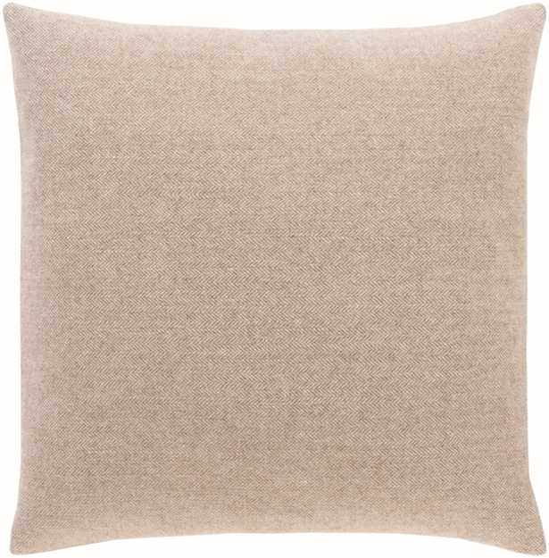 """Wells Pillow Cover, 22""""x 22"""" Taupe - Cove Goods"""