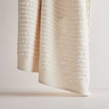 """Soft Corded Throw, 50""""x60"""", Natural - West Elm"""