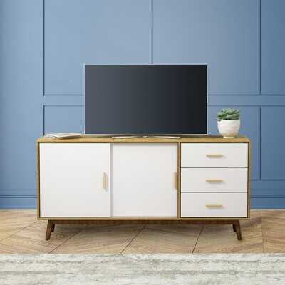 """Apollonoa TV Stand for TVs up to 28"""" with Fireplace Included - Wayfair"""