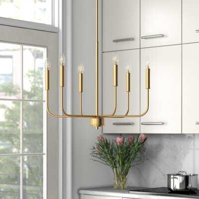 Aldusa 6 - Light Candle Style Chandelier - Wayfair