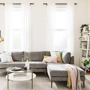 "European Flax Linen Curtain, Cotton lining, White, 48""x96"" - West Elm"
