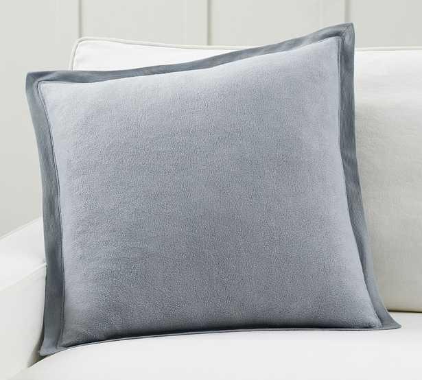 """Cozy Fleece Pillow Cover, 22 x 22"""", Cloud Blue - Pottery Barn"""