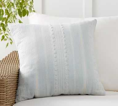 """Airstream Striped Indoor/Outdoor Pillow , 20 x 20"""", Blue Multi - Pottery Barn"""