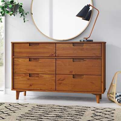 Dorinda Groove 6 Drawer Double Dresser - AllModern