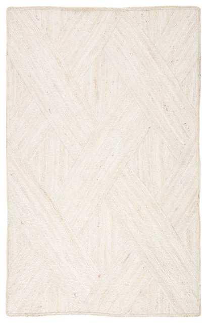 Vero Natural Trellis Ivory Area Rug (8'X10') - Collective Weavers
