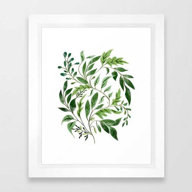 Abundance || Framed Art Print by 83 Orangesa(r) Art Shop - Vector White - X-Small-10x12 - Society6