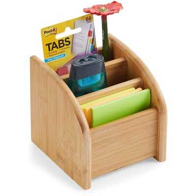 Desk Organizer 3 Tier Bamboo Mini Desk Storage For Office Supplies, Toiletries, Crafts, Great For Desk, Vanity, Tabletop In Home Or Office Makeup Organizer By: Inbox Zero - Wayfair